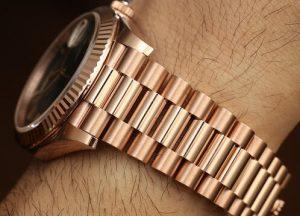 Fake Rolex Everose gold President Bracelet